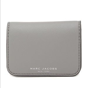 Marc Jacobs grey leather card holder